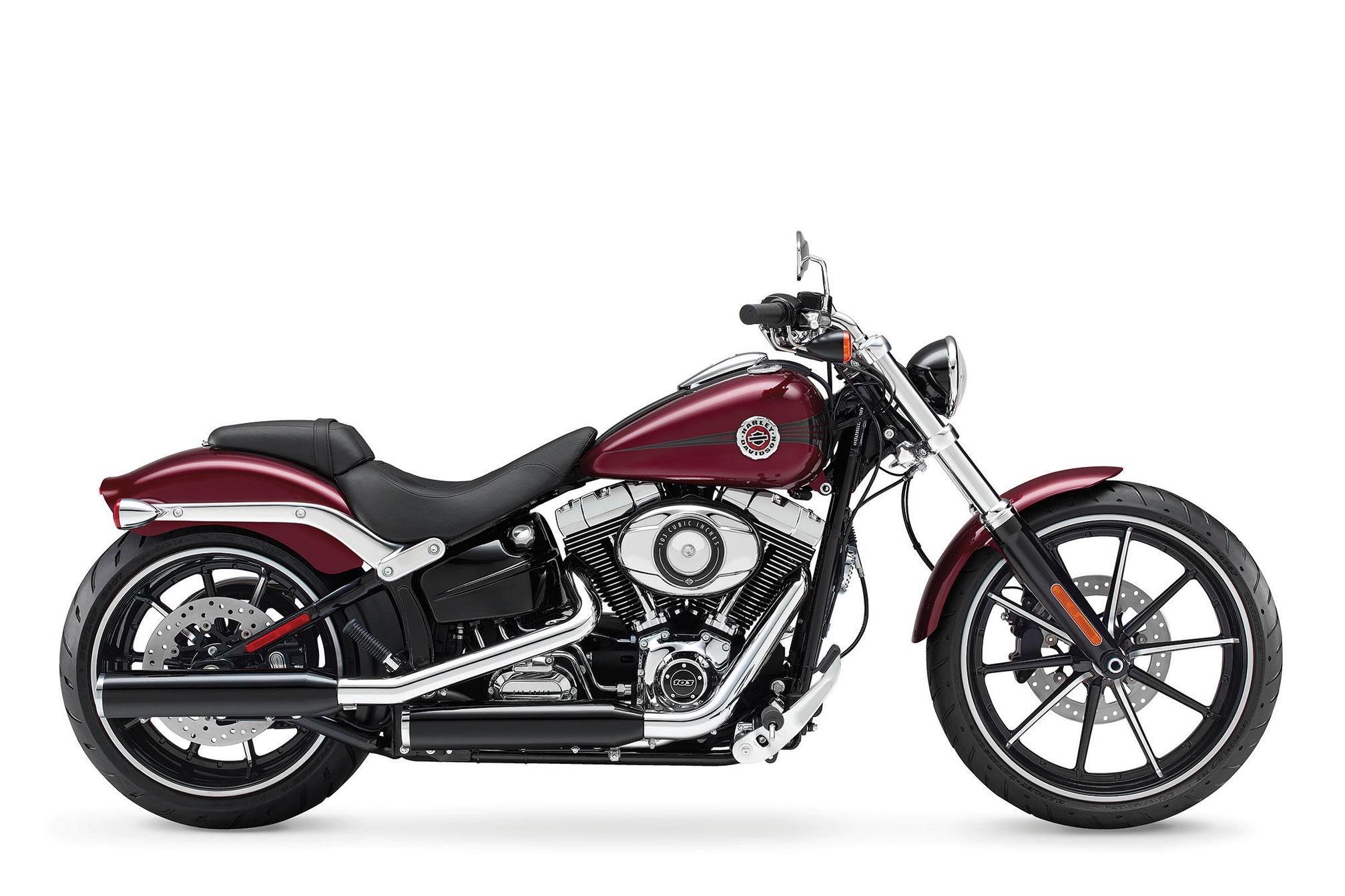 pc wallpaper Harley-Davidson FXSB Breakout 2015 - Red color