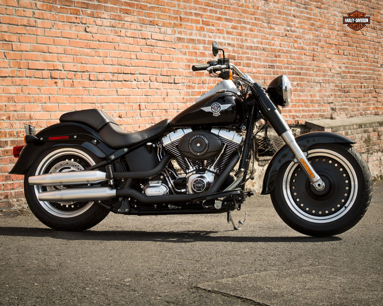 pc wallpaper Harley-Davidson FLSTFB Fat Boy Lo 2015